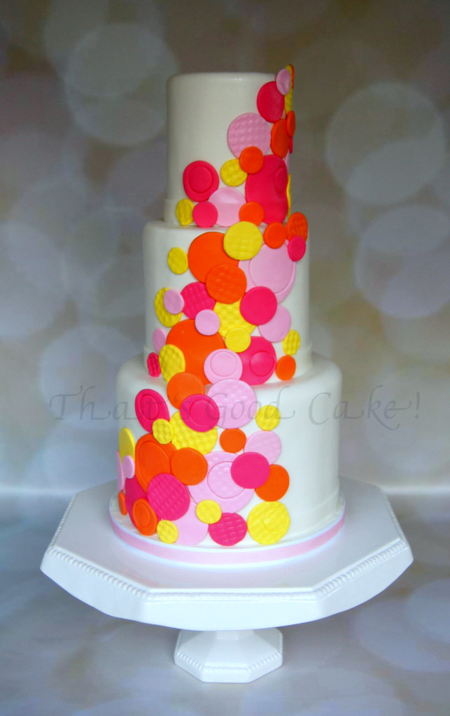 Orange Pink Yellow Baby Shower Cake 357 Inch Cakes T Flickr
