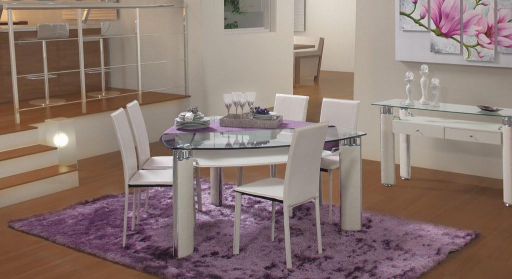Muebles de comedor blanco composicin de comedor de color - Muebles kiona heras ...