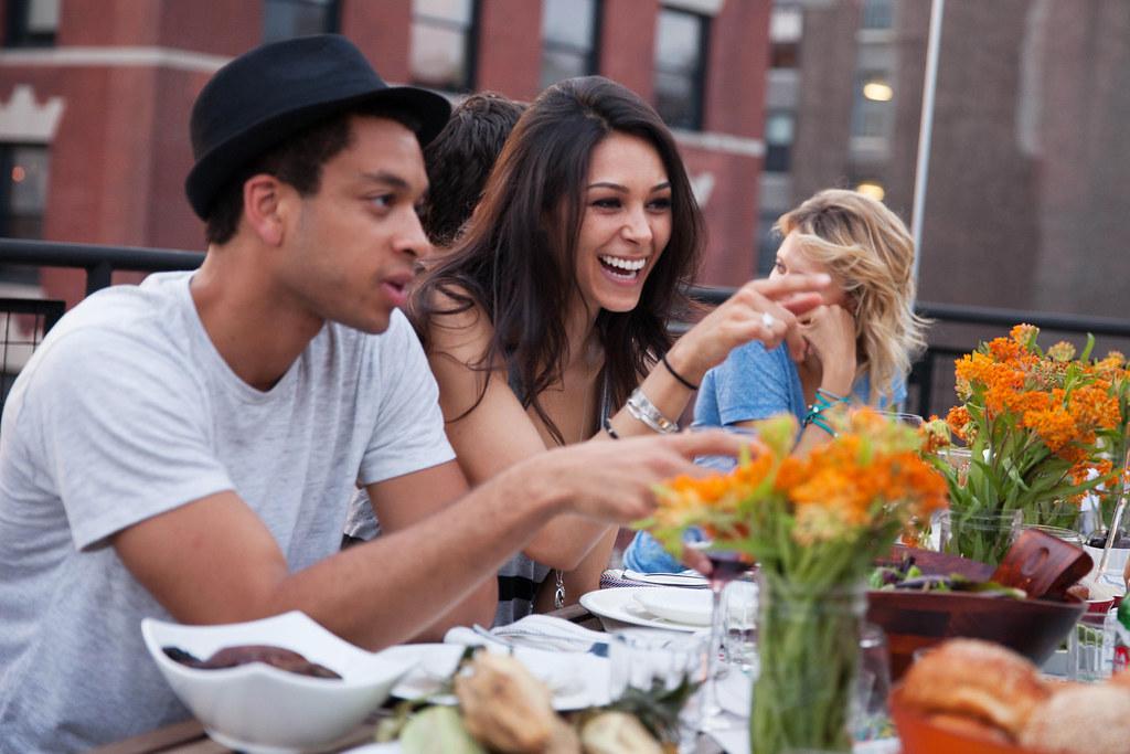 People Eating Food Restaurant