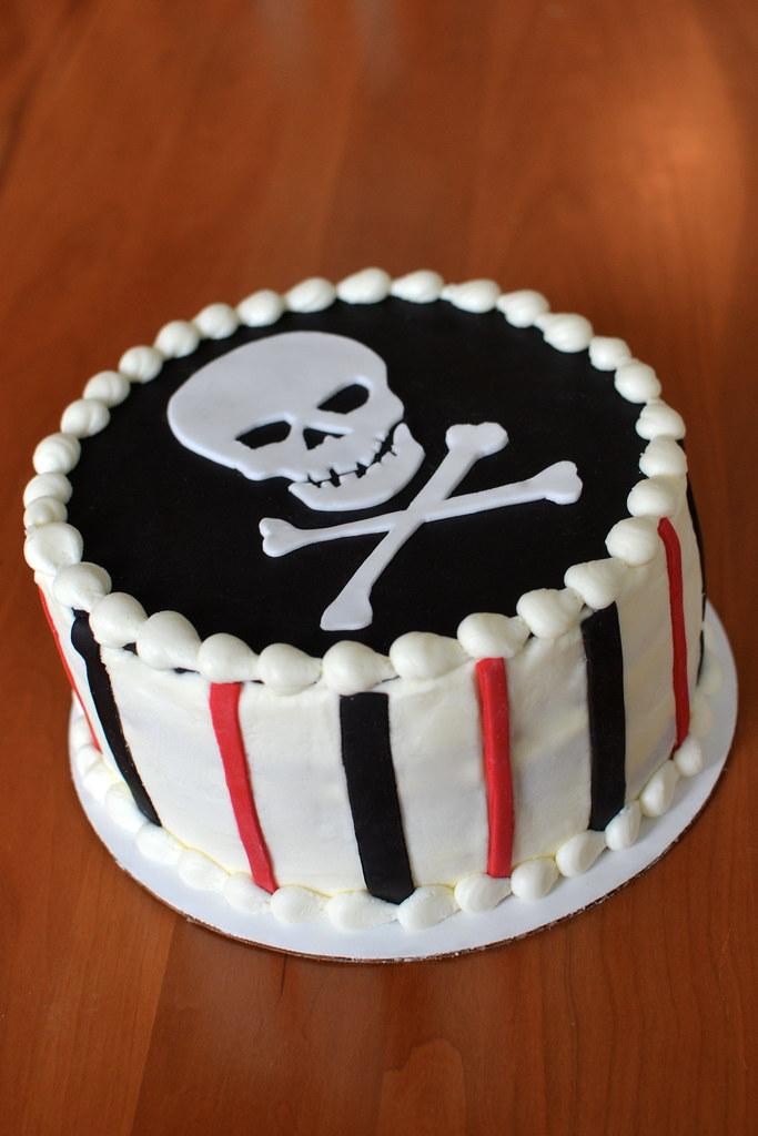 Square Skull Birthday Cakes