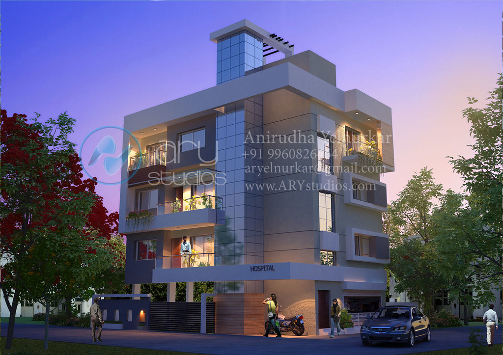 Apartment Rendering Architectural Evening View Realisti Flickr