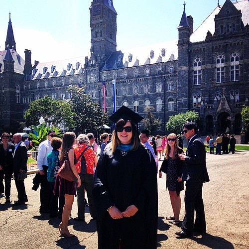 #hoyas2014 @lolabolt is benefiting from my years of experience dressing people in regalia. | by Kelly D.