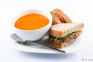 Soup and sandwich | by Tomas Adam