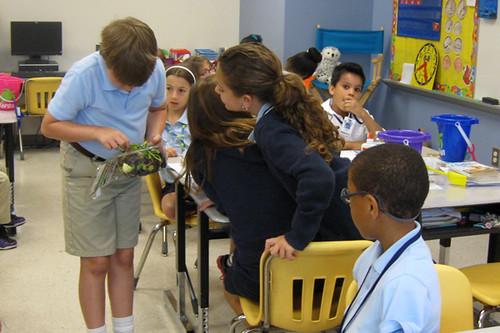 Corps visits Godley Station Elementary School