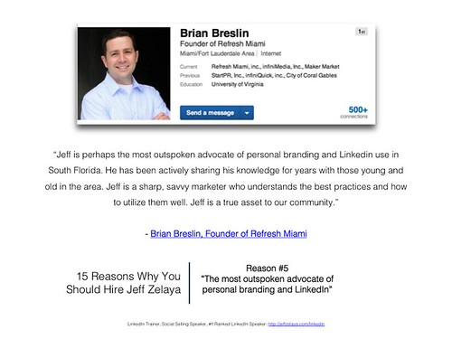 Brian Breslin Reviews Miami Personal Branding & LinkedIn Expert: Jeff Zelaya | by Jeff Zelaya