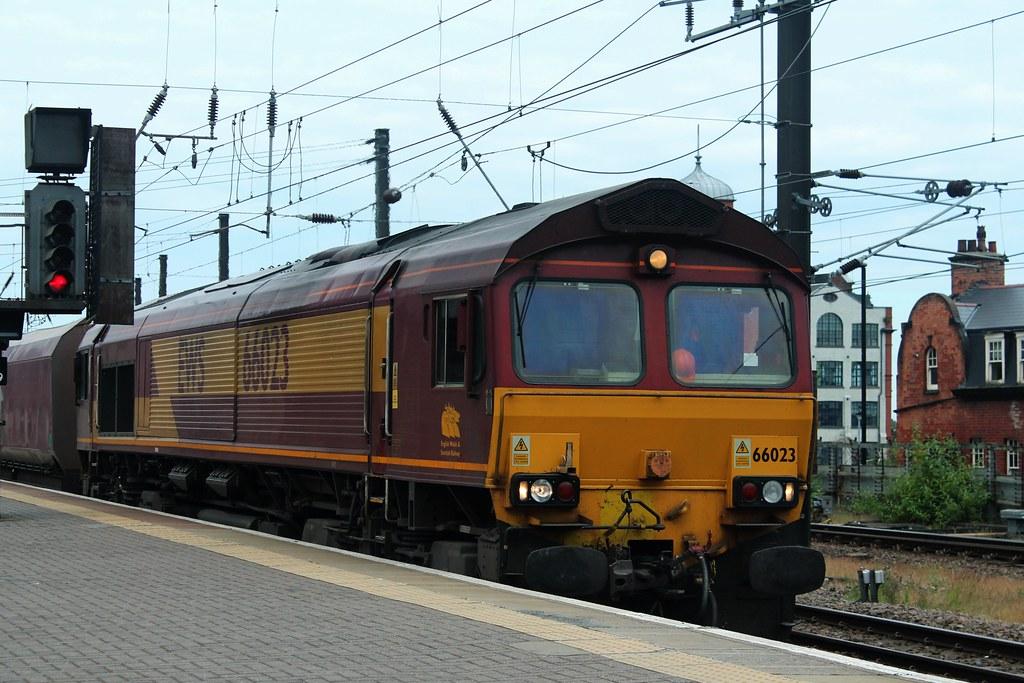 ... Class 66: 66023 EWS Newcastle Central   by emdjt42