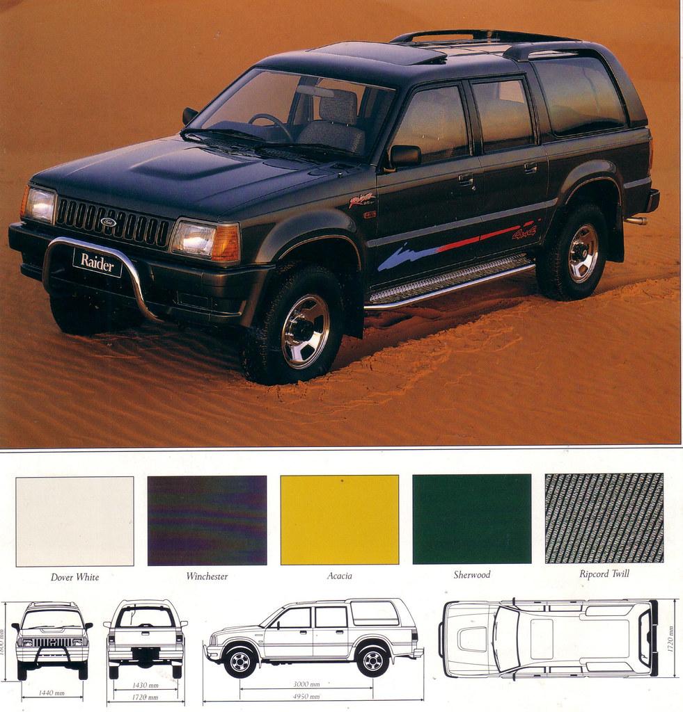 1991 Ford Raider 4WD Brochure Australia Covers The