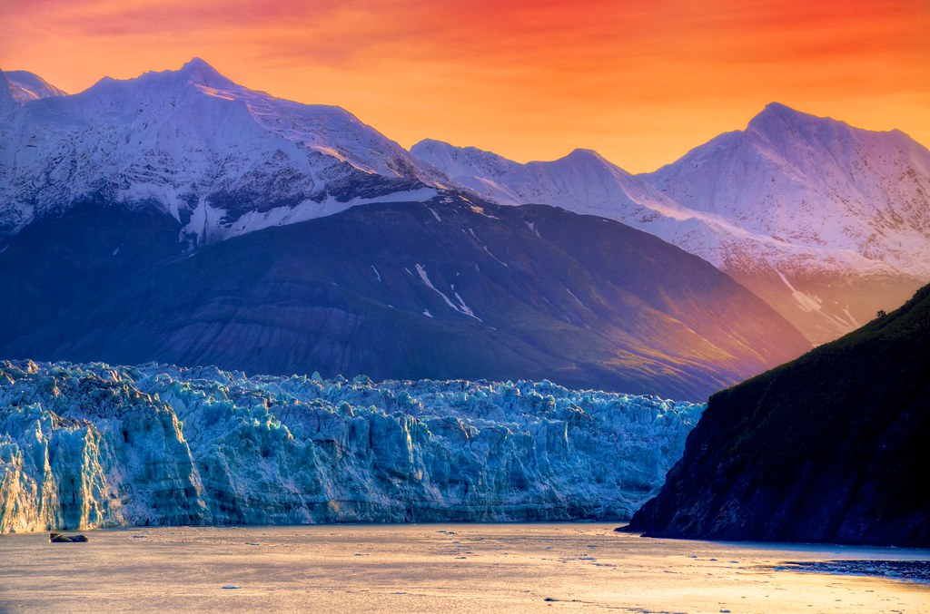 alaska amp sunrise sunrise at hubbard glacier alaska