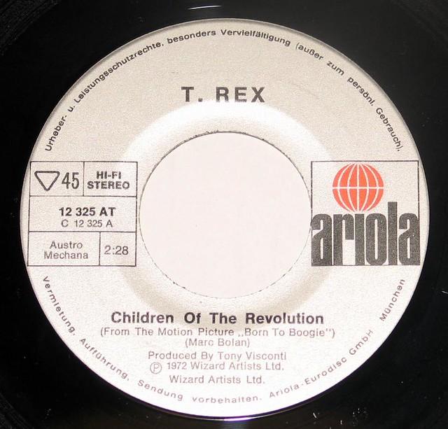 T.REX Children of the Revolution / Jitterbug Love Tyrannosaurus Rex
