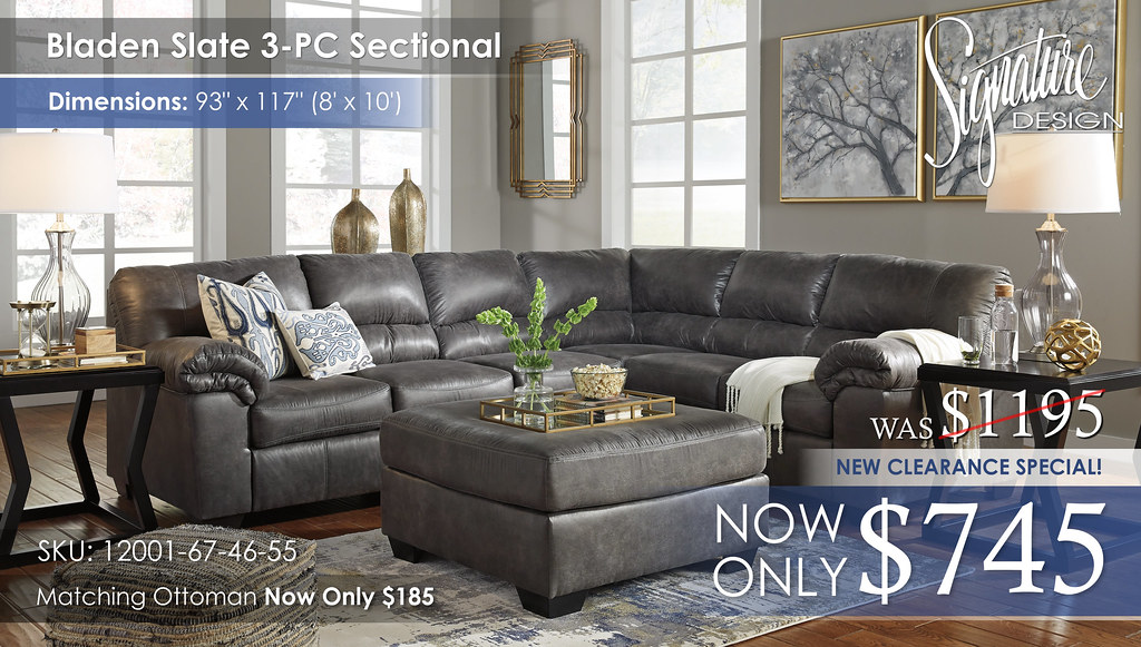 Bladen Slate 3PC Sectional 12001-55-46-67-08-T592-AHS