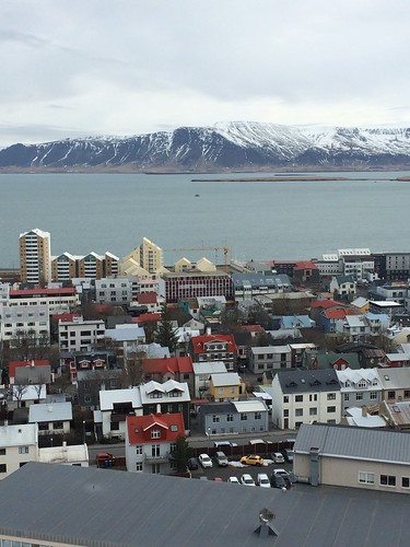 View of Reykjavik from church