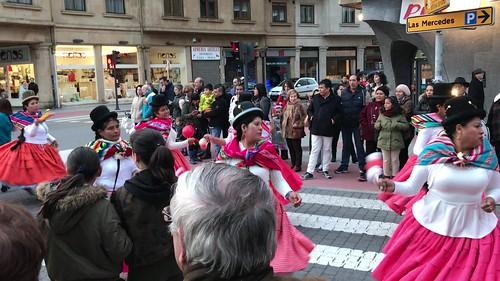 Carnaval folklórico boliviano en Getxo 2017