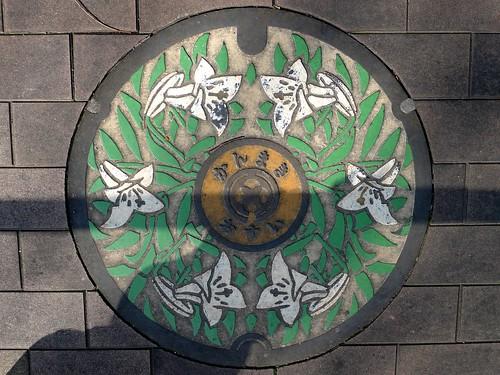 Kanmaki Nara, manhole cover 2 (奈良県上牧町のマンホール2)