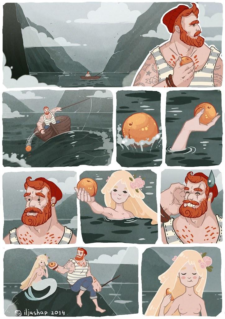 Комикс Peaches, автор — Iljashap. Источник фото
