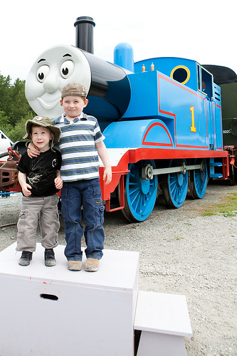 Photo with Thomas the Tank Engine