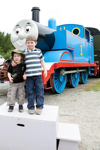 Photo with Thomas the Tank Engine