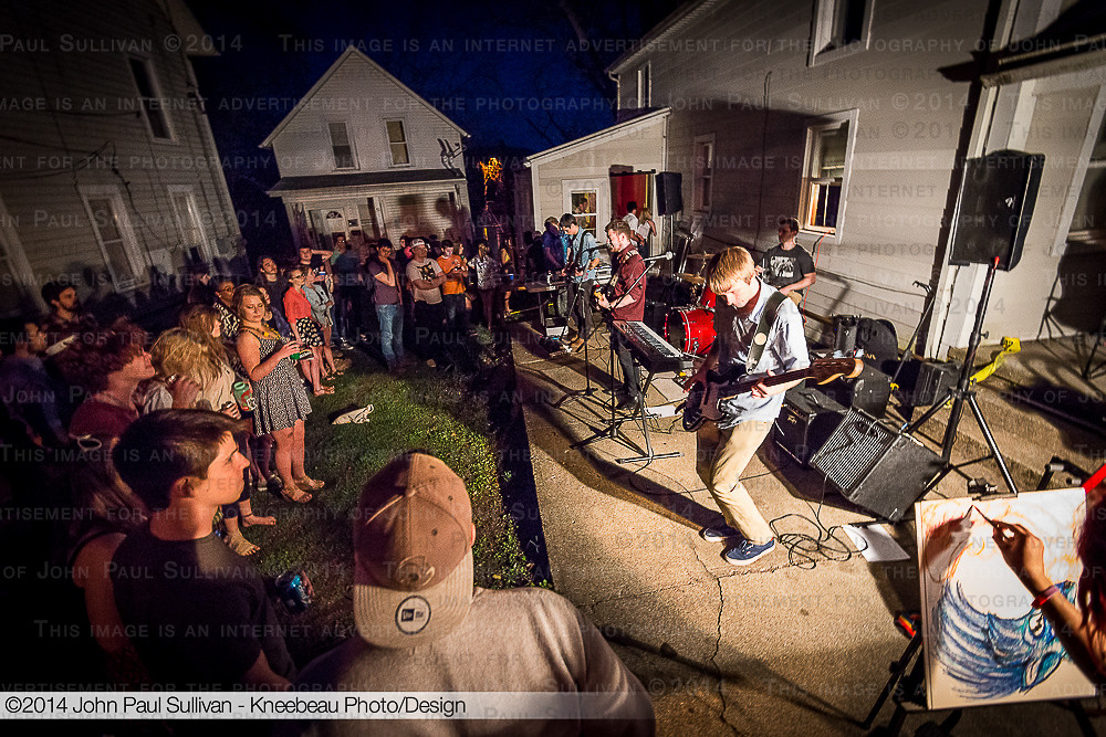yard party with live band at ohio university after finals flickr