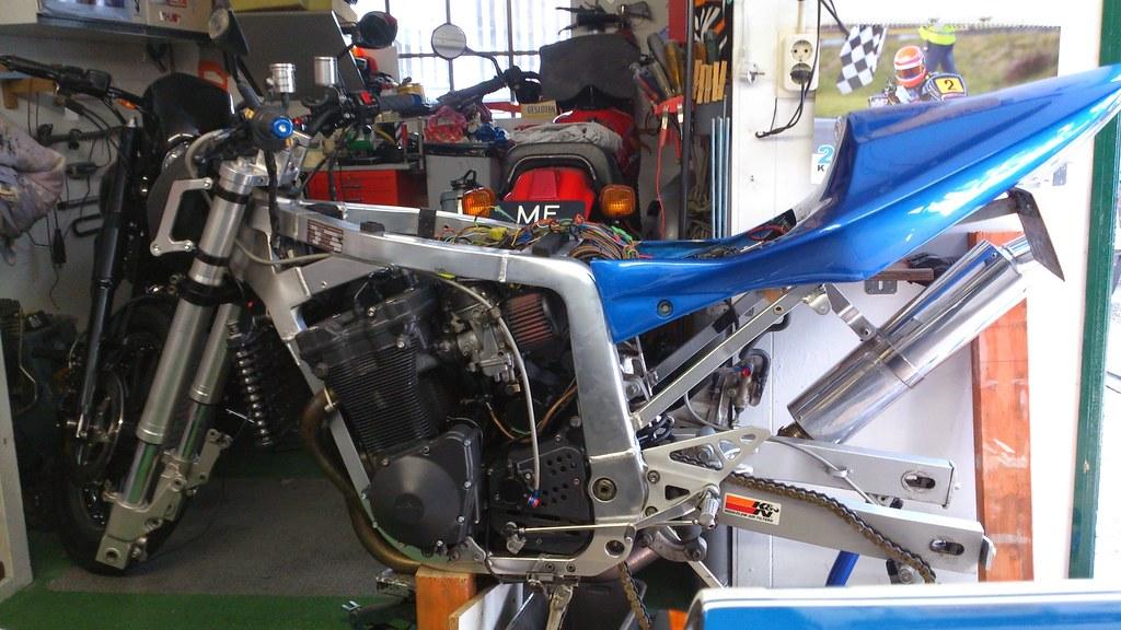 GSXR 750 frame 1100 engine streetfighter build | Stage 3 dyn… | Flickr