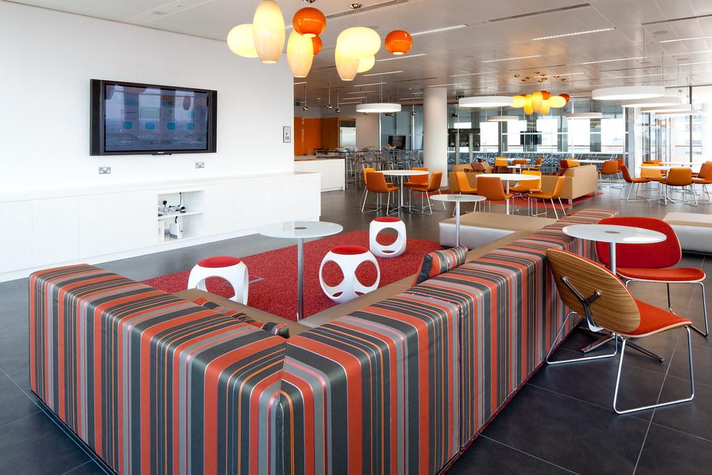 Colourful restaurant interior design