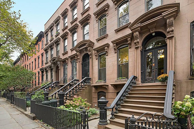 Beautiful brownstones in Brooklyn