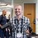 Posed portrait of Jesse Joudrey (Jespionage) at SVVR holding Oculus Rift DK1 and controller