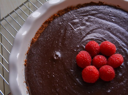 Chocolate Tart with Gingersnap Crust (Dairy Free/Gluten Free)