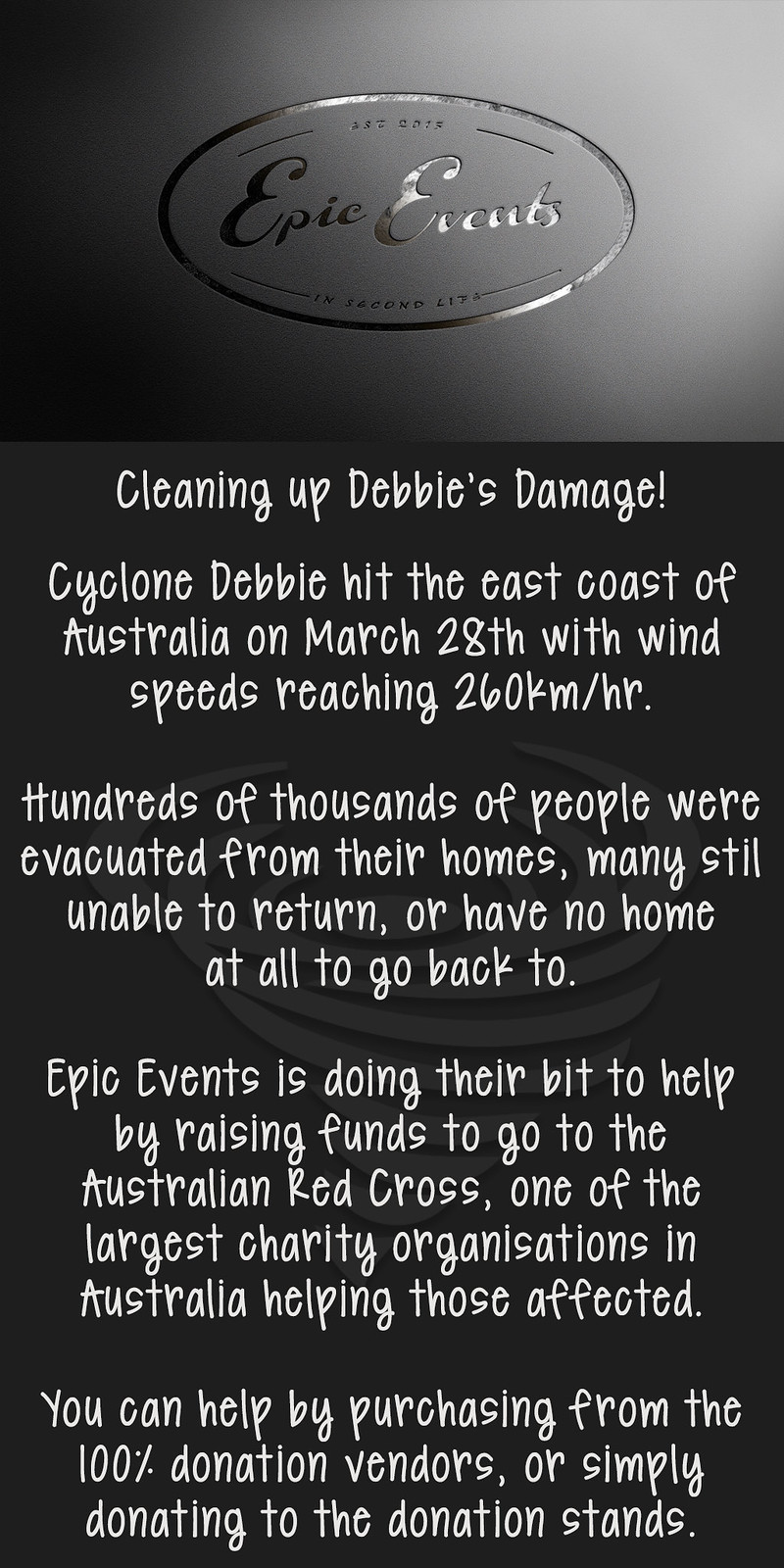 Cyclone Debbie Cleanup Sign