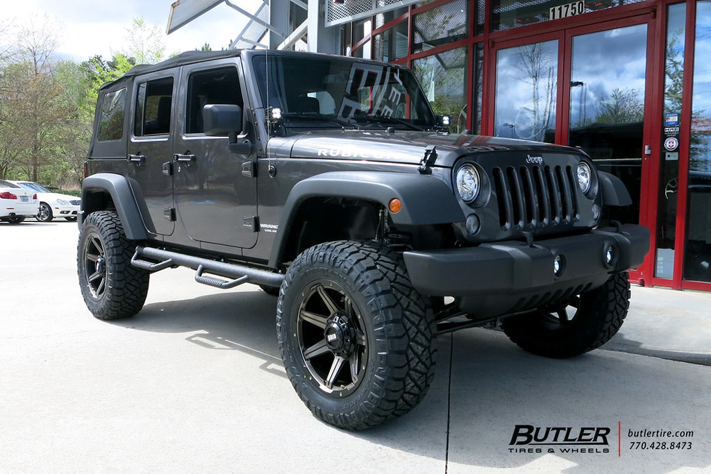Jeep Wrangler with 20in Grid GD5 Wheels and Nitto Ridge Gr ...