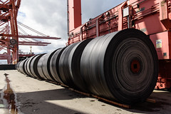 SR 99 tunnel conveyor belt spools