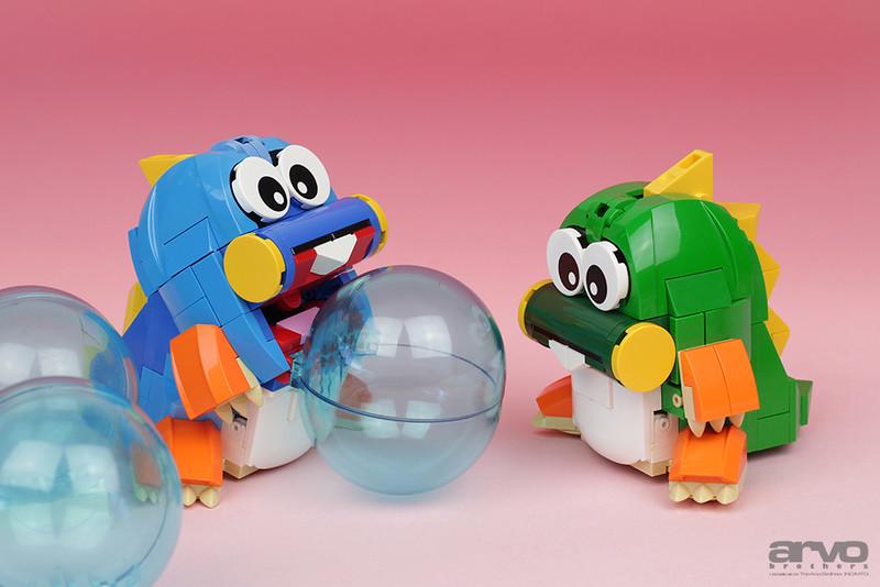 Bub & Bob LEGO Bubble Bobble