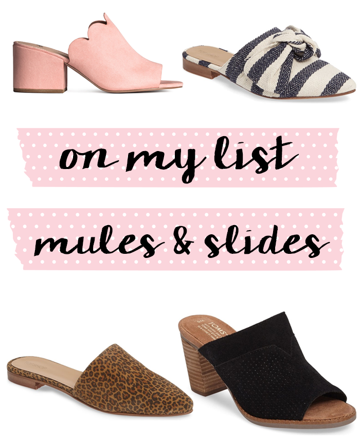 mules and slides for spring