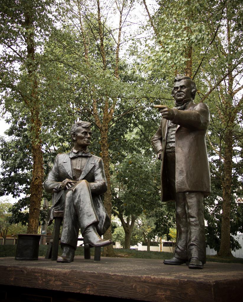 Abraham Lincoln 1858 Lincoln Douglas Debate Statues