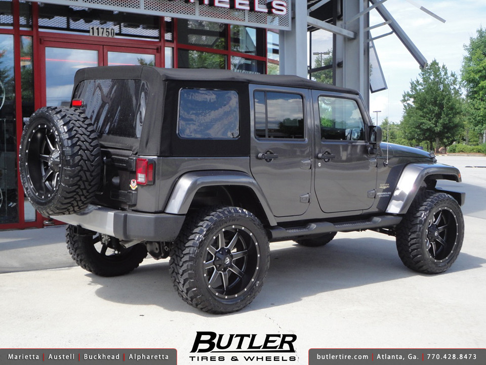 White Jeep Wrangler With Black Rims >> Jeep Wrangler with 22in Fuel Maverick Wheels | Additional Pi… | Flickr
