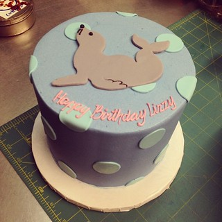 Sea lion birthday cake #polkadotscupcakefactory | by Polkadots (Olga)