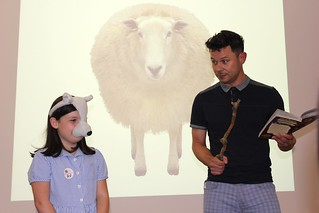 Author Guy Bass Makes a Sheep Out of a Fan | by Manchester Children's Book Festival