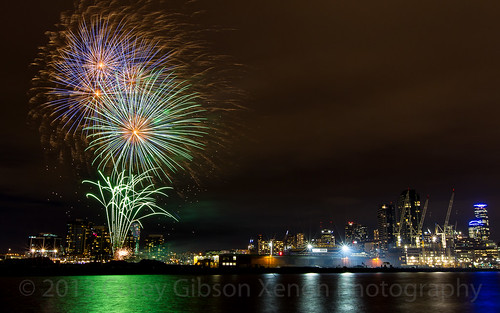 Docklands Winter Fireworks 11th July 2014 | by inlina