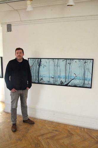 Fredrik Lindberg framför Fågelskogen