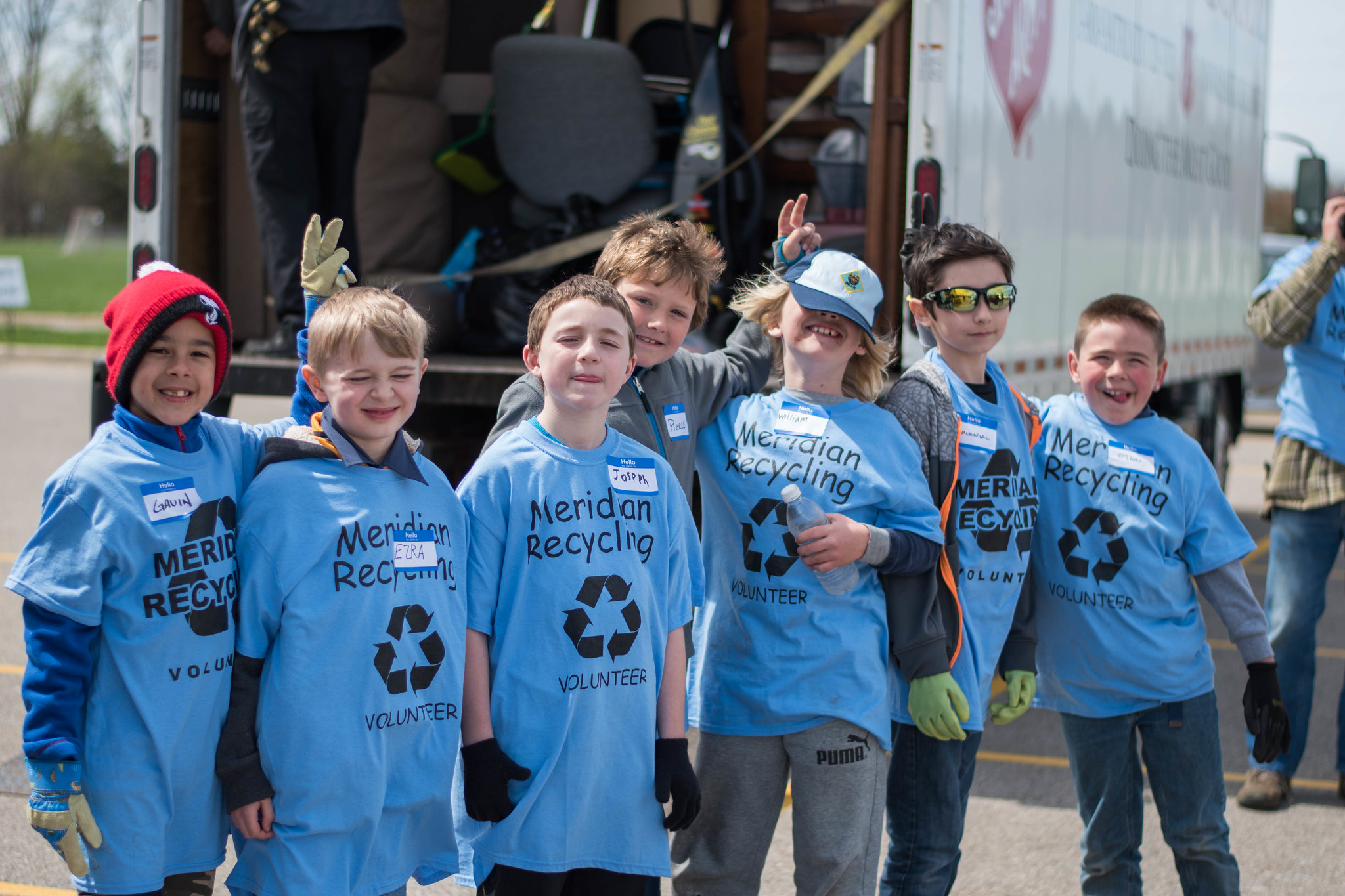 Meridian Township's Earth Day Recycling Event Helps Break World Record