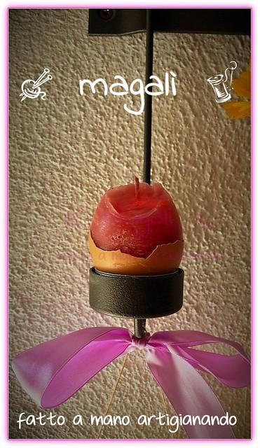 Pasqua candeluova centrotavola fiorito