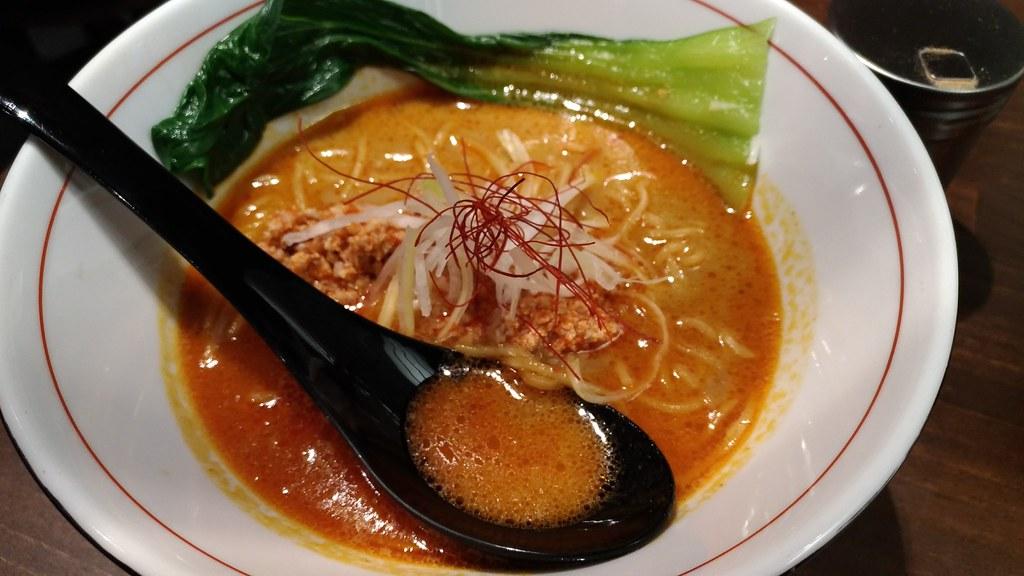 「麺屋虎杖」のカレー担々麺
