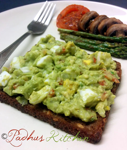 avocado-egg-open sandwich-recipe