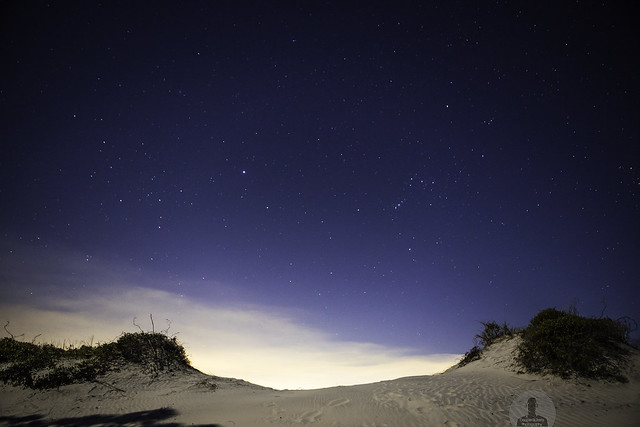 Dune at night