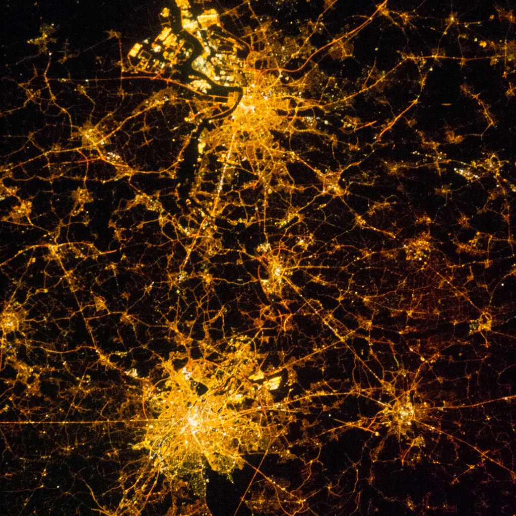 Brussels And Antwerp At Night (NASA, International Space S