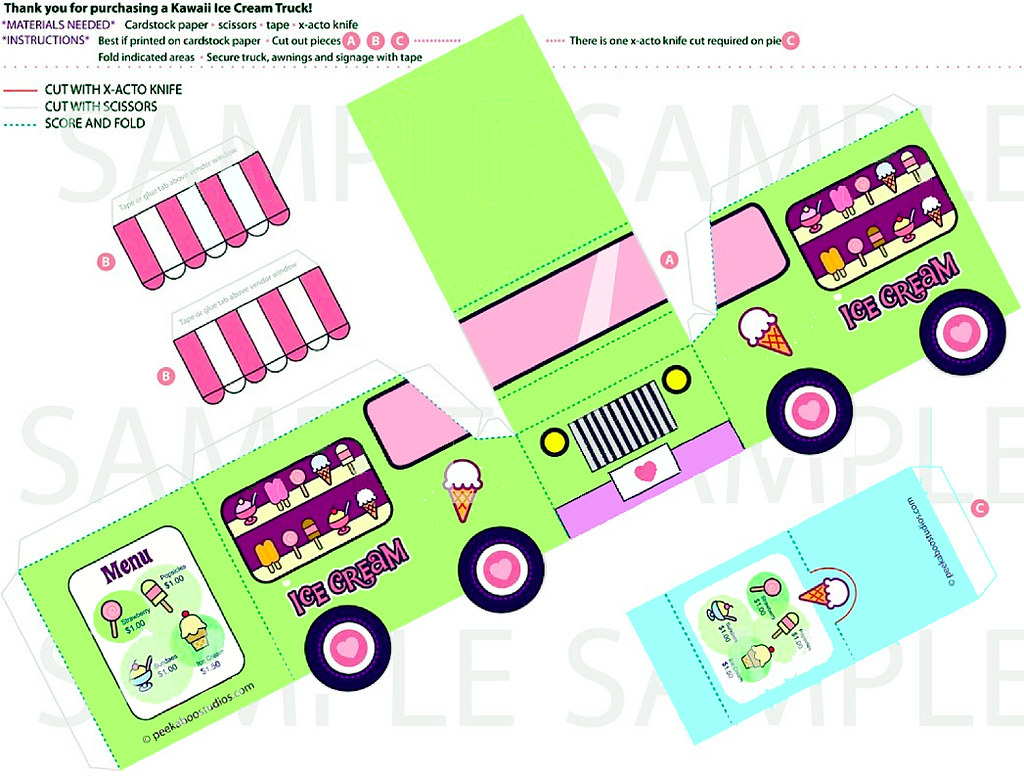 Ice Cream Truck template | paper bug | Flickr