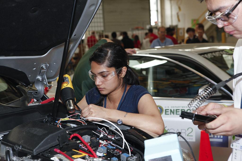 Purdue 39 S Bilwa Jadhev At General Motors Milford Proving Gr