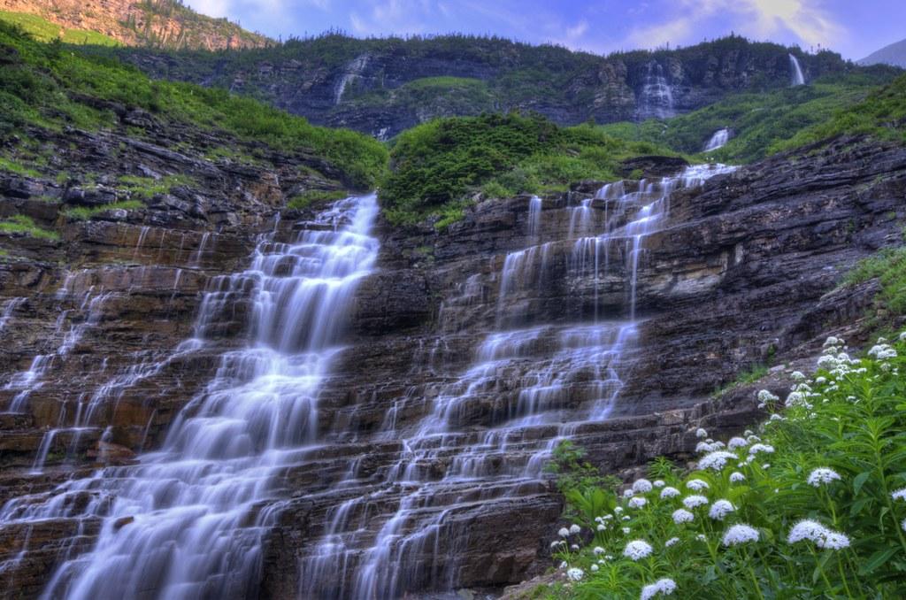 Big Bend Falls Glacier National Park Montana Brendan