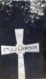 Fallen comrades:  Corporal Joseph Johnstone Lawson