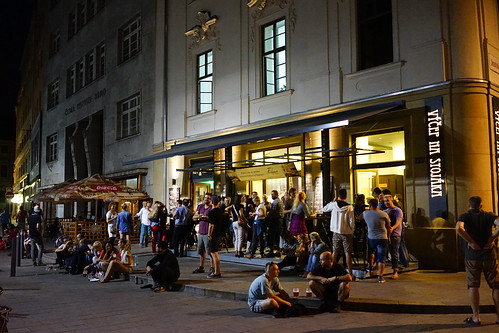 Many Czech people out late at night in Brno | by dionhinchcliffe