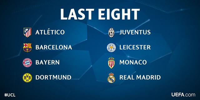 Los 8 equipos que pasan a Cuartos de Final de la Champions League