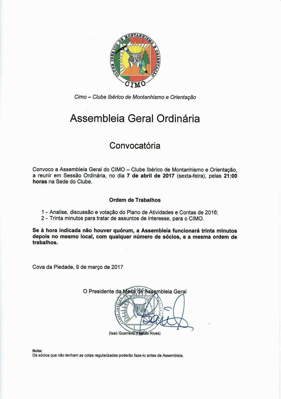 Convocatória 2017